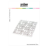 The Stamp Market - Clear Photopolymer Stamps - Hello Background