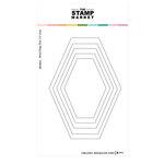 The Stamp Market - Dies - Oblong Hexagon