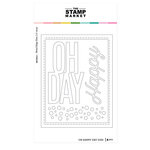 The Stamp Market - Dies - Oh Happy Day Shaker Card