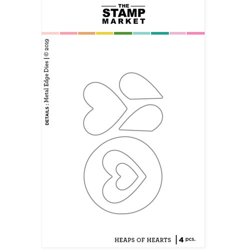 The Stamp Market - Dies - Heaps of Hearts