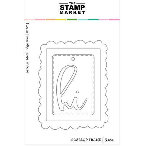 The Stamp Market - Dies - Scalloped Frame