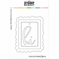 The Stamp Market - Dies - Scalloped Frame