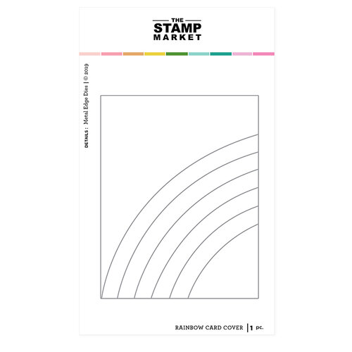 The Stamp Market - Dies - Rainbow Card Cover