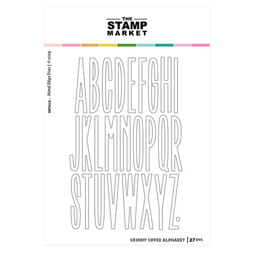 The Stamp Market - Dies - Skinny Alphabet Upper