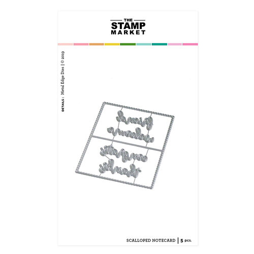 The Stamp Market - Dies - Scalloped Notecard