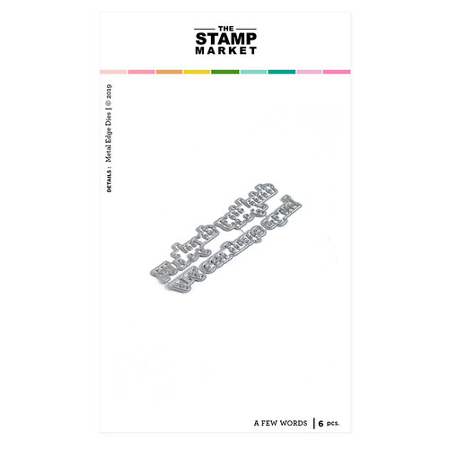 The Stamp Market - Dies - A Few Words