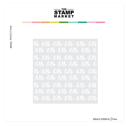 The Stamp Market - Stencils - Hello