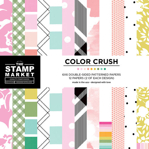 The Stamp Market - 6 x 6 Paper Pad - Color Crush Patterns