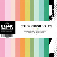 The Stamp Market - 6 x 6 Paper Pad - Color Crush Solids