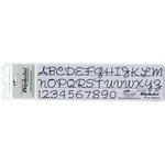 Timeless Touches - Fiber Friend - Paper Piercing Template - Alphabet - Script Uppercase