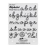 Timeless Touches - Fiber Friend - Paper Piercing Template - Lowercase Script Alphabet