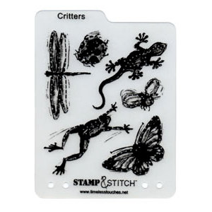 Timeless Touches - Stamp and Stitch - Stamp and Template Set - Critters, CLEARANCE