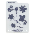 Timeless Touches - Stamp and Stitch - Stamp and Template Set - Wild Flowers, CLEARANCE