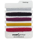 Timeless Touches - Stamp and Stitch - Stitchable Fibers - Greetings, CLEARANCE