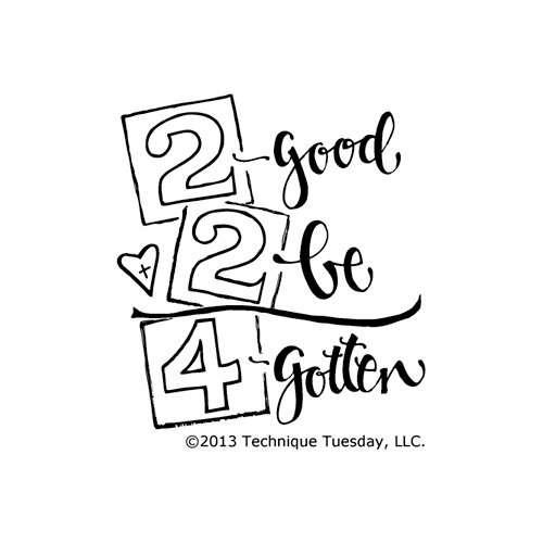 Technique Tuesday - Clear Acrylic Stamps - 2 Good 2 Be