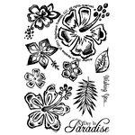 Technique Tuesday - Clear Acrylic Stamps - A Day in Paradise