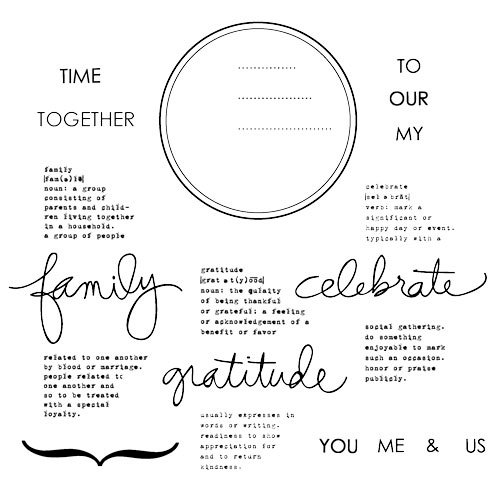 Technique Tuesday - Clear Acrylic Stamps - Family Circle by Ali Edwards