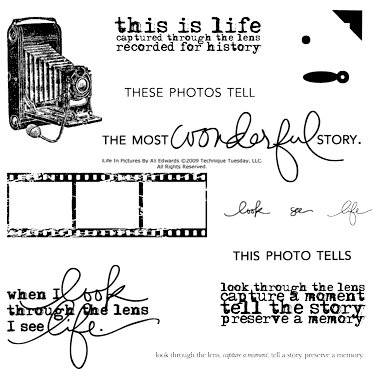 Technique Tuesday - Clear Acrylic Stamps - Life in Pictures by Ali Edwards