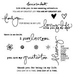 Technique Tuesday - Clear Acrylic Stamps - Loving Words by Ali Edwards