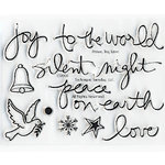 Technique Tuesday - Clear Acrylic Stamps - Peace Joy Love by Ali Edwards