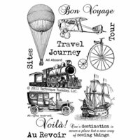 Technique Tuesday - Clear Photopolymer Stamps - All Aboard