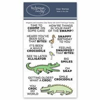 Technique Tuesday - Animal House Collection - Clear Photopolymer Stamps - Alligators And Crocodiles