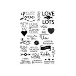 Technique Tuesday - Clear Acrylic Stamps - All You Need is Love