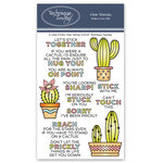 Technique Tuesday - Clear Acrylic Stamps - A Little Prickly