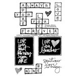 Technique Tuesday - Clear Acrylic Stamps - Always Adore by Ali Edwards