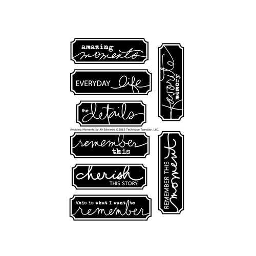 Technique Tuesday - Clear Acrylic Stamps - Amazing Moments by Ali Edwards