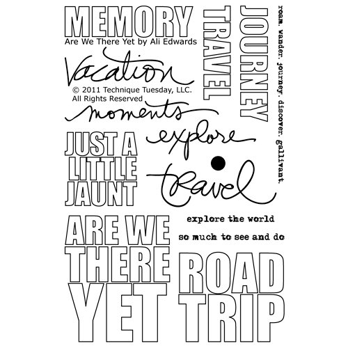 Technique Tuesday - Clear Acrylic Stamps - Are We There Yet by Ali Edwards