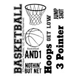 Technique Tuesday - Clear Acrylic Stamps - Basketball