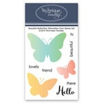 Technique Tuesday - Clear Photopolymer Stamps - Beautiful Butterflies Silhouettes