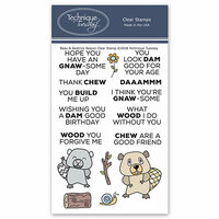 Technique Tuesday - Animal House Collection - Clear Photopolymer Stamps - Beau and Beatrice Beaver