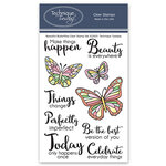 Technique Tuesday - Memory Keepers Studio - Clear Photopolymer Stamps - Beautiful Butterflies