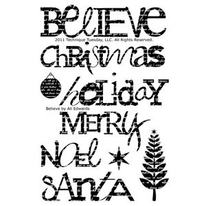 Technique Tuesday - Clear Acrylic Stamps - Believe by Ali Edwards