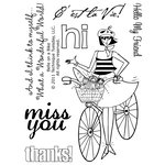 Technique Tuesday - Clear Acrylic Stamps - Belle on a Bike