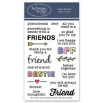 Technique Tuesday - Memory Keepers Studio - Clear Photopolymer Stamps - Best Friends