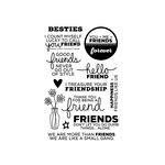 Technique Tuesday - Memory Keepers Studio - Clear Acrylic Stamps - Besties