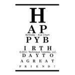 Technique Tuesday - Clear Acrylic Stamps - Happy Birthday Eye Chart