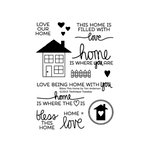 Technique Tuesday - Clear Acrylic Stamps - Bless This Home