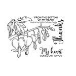 Technique Tuesday - Clear Acrylic Stamps - Bleeding Heart