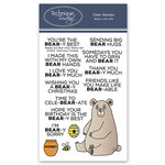 Technique Tuesday - Animal House Collection - Clear Photopolymer Stamps - Bobbi the Bear