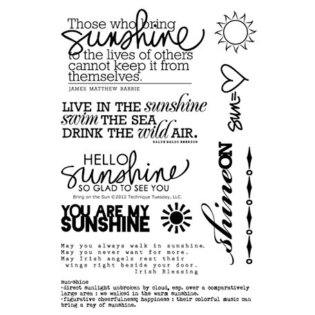 Technique Tuesday - Clear Acrylic Stamps - Bring on the Sun by Ali Edwards