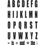 Technique Tuesday - Clear Stamps - Big Timber Alphabet - Capital Letters - Dots - Extra Large, CLEARANCE