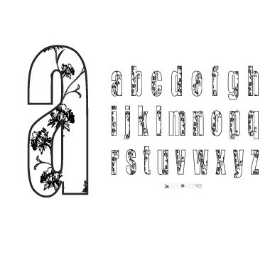 Technique Tuesday - Clear Stamps - Big Timber Meadow - Lowercase Letters - Tall