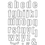 Technique Tuesday - Clear Acrylic Stamps - Alphabet - Big Timber - Outline - Lowercase