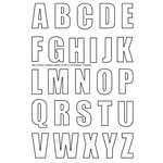Technique Tuesday - Clear Acrylic Stamps - Alphabet - Big Timber - Outline - Uppercase