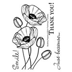 Technique Tuesday - Clear Acrylic Stamps - Budding Poppies