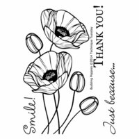 Technique Tuesday - Clear Photopolymer Stamps - Budding Poppies